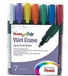 Pack of 7 Pentel 1.5mm-4mm Chalk Markers